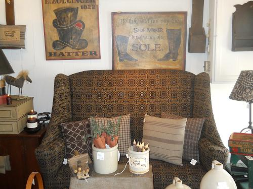A Nice Upholstered Sette From Dunroven House, Signs By Kathy Graybill